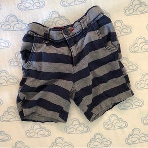 Striped Jean Shorts